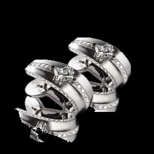 Эксклюзивные серьги TIAMO из золота, с бриллиантами
