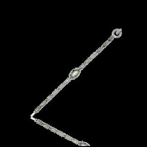 Эксклюзивный браслет TIAMO из золота, с аметистами и бриллиантами