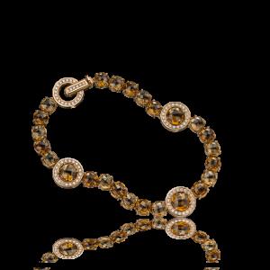 Эксклюзивный браслет TIAMO из золота, с цитринами и бриллиантами
