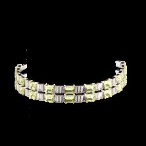 Эксклюзивный браслет TIAMO из золота с аметистом